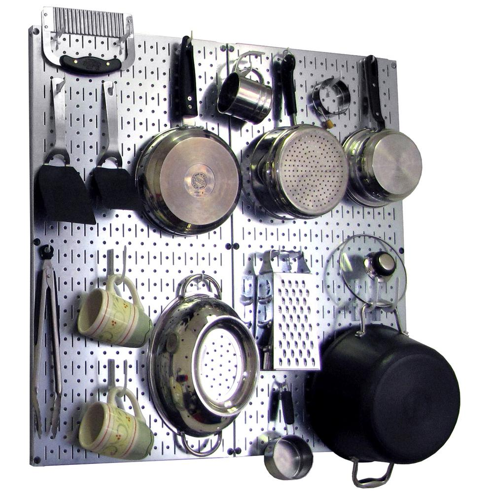 Wall Control Kitchen Pegboard 32 in. x 32 in. Steel Peg ...