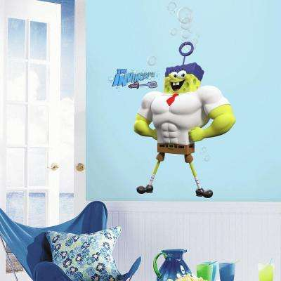 2.5 in. x 21 in. The SpongeBob Movie Character Peel and Stick Giant Wall Decal