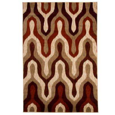Opus Silhouette Red 5 ft. 3 in. x 7 ft. 7 in. Area Rug
