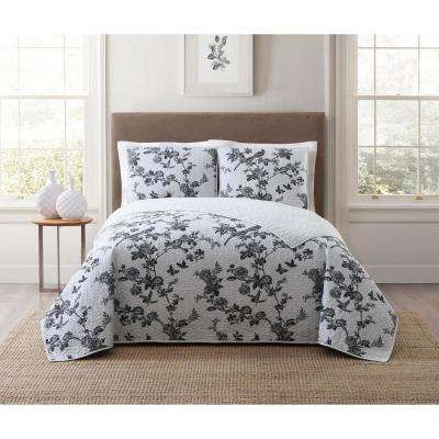 Lisborn Black King Quilt Set
