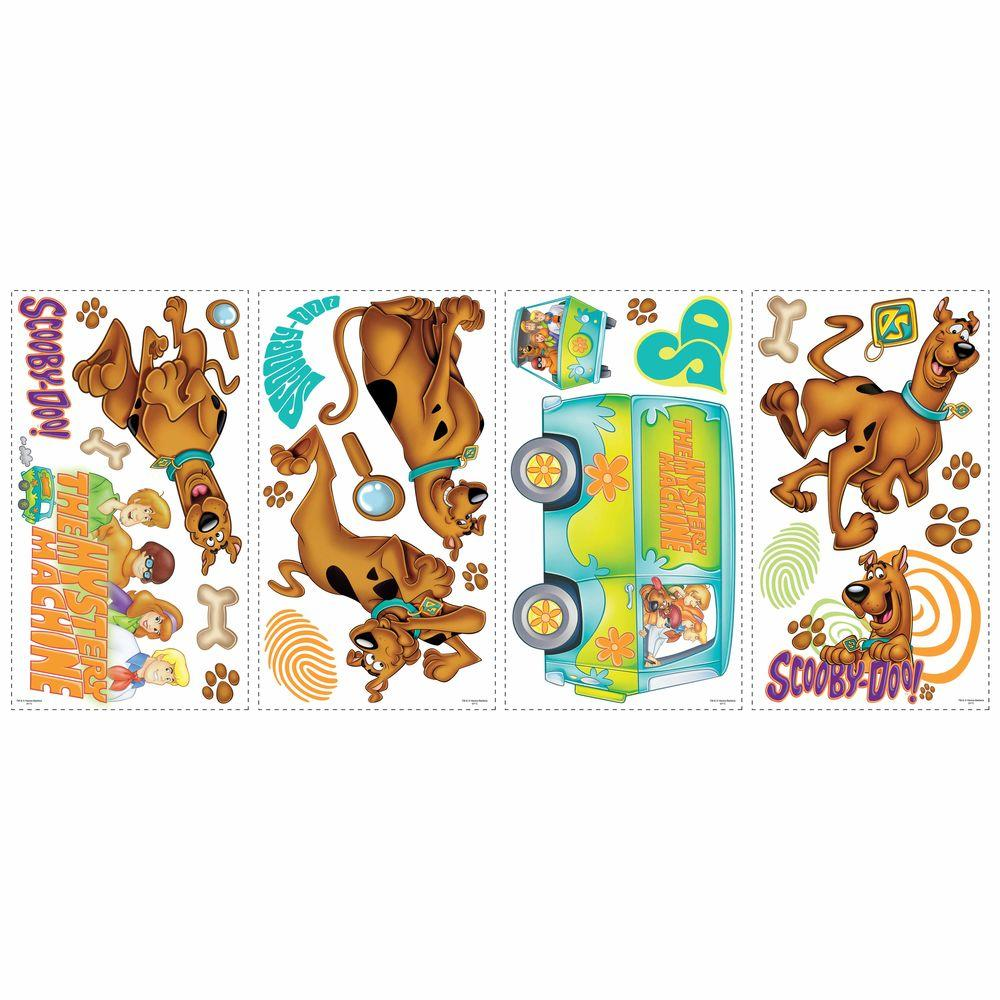 RoomMates 5 in. x 11.5 in. Scooby Doo Peel and Stick Wall Decals (26-Piece)