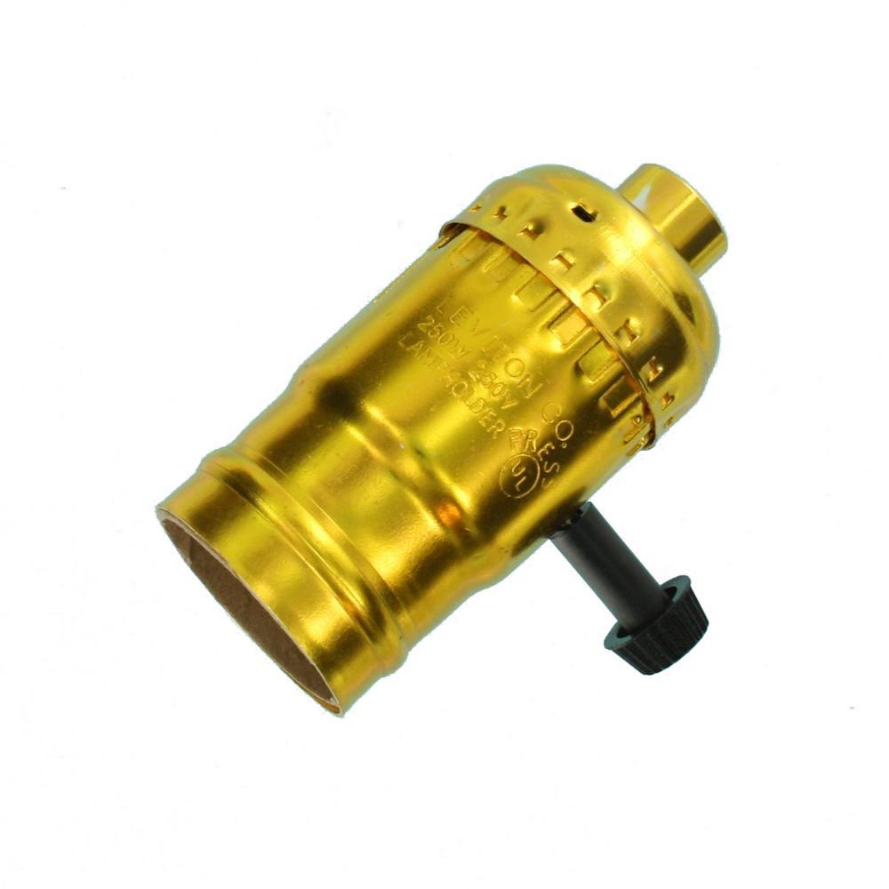 PORCELAIN ~ ON ~ OFF TURN KNOB LAMP ~ Light Socket Interior /& Insulator ~ #YB137
