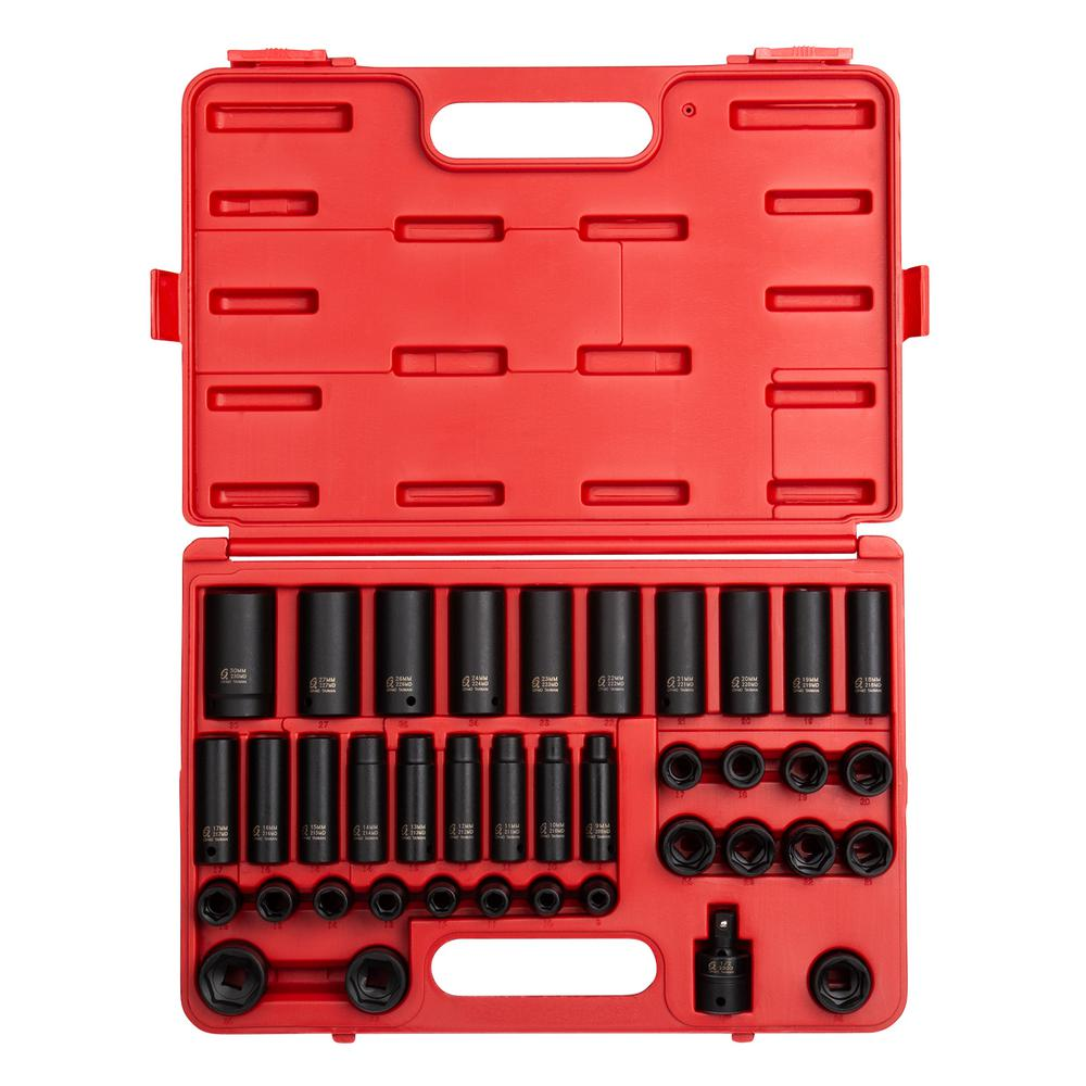 Sunex 1/2-in. Drive Metric Impact Socket Set (39-Piece)-2669 - The ...