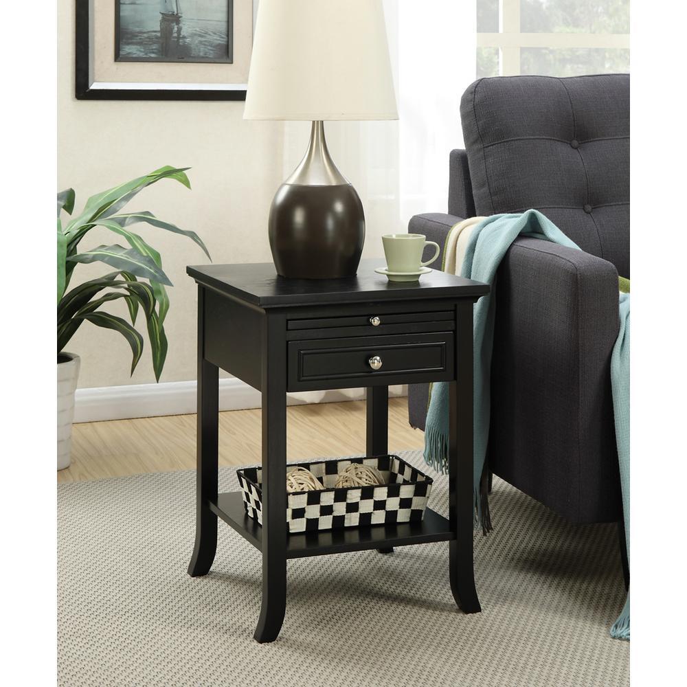 American Heritage Logan Black End Table