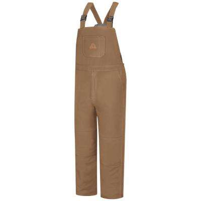 EXCEL FR ComforTouch Men's Medium Brown Duck Deluxe Insulated Bib Overall