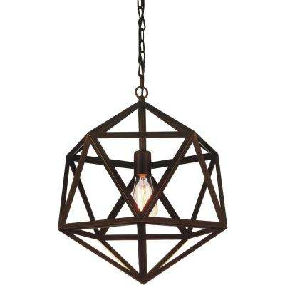 Dia 1-Light Antique Copper Chandelier