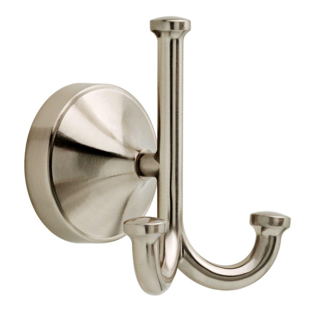 Phoebe Triple Towel Hook in SpotShield Brushed Nickel