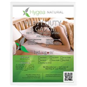 Hygea Natural Bed Bug, Vinyl, and Waterproof Twin Mattress Or Box Spring Cover