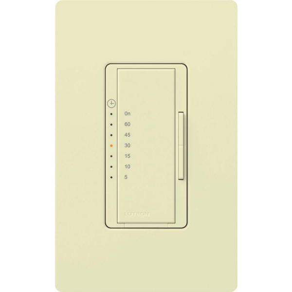 Maestro 600-Watt/VA Multi-Location/Single-Pole Countdown Timer Switch - Almond