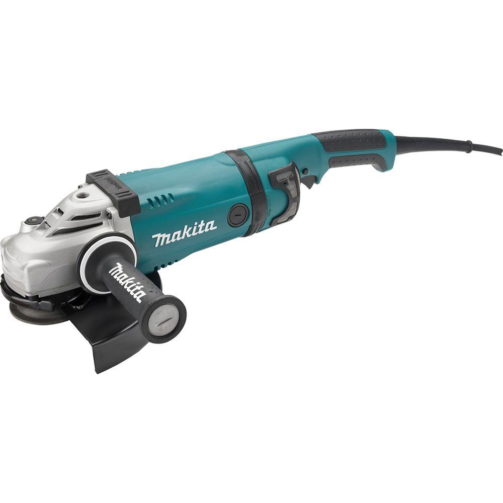 15 Amp 9 in. Angle Corded Grinder with Lock-Off and No