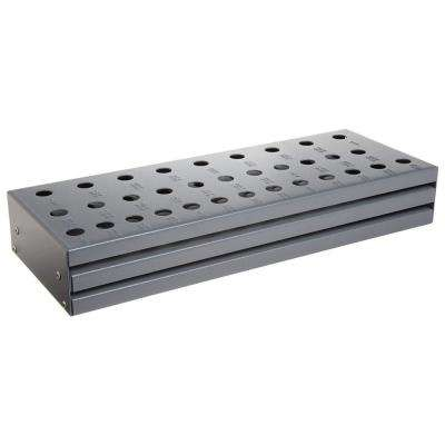 13 in. x 5 in. Silver and Deming Drill Bit Tool Case