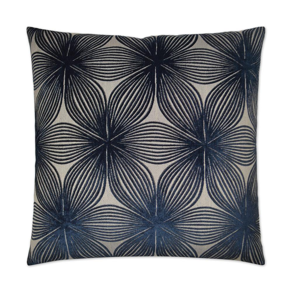 Ellery Navy Feather Down 24 In X 24 In Standard Decorative Throw