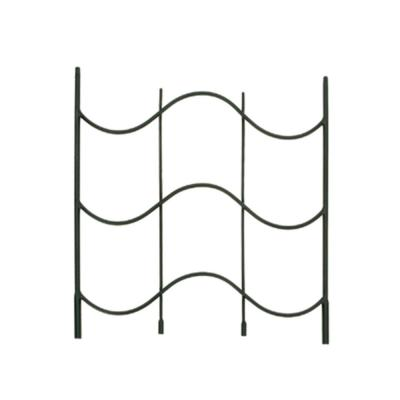 Waves Trellis Extension, 24 in. Tall Black Powder Coat Finish