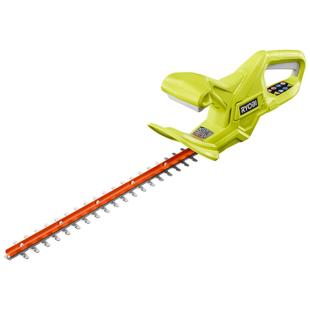 RYOBI ONE+ 18 in. 18-Volt Lithium-Ion Cordless Hedge Trimmer (Tool-Only) was $74.97 now $49.97 (33.0% off)