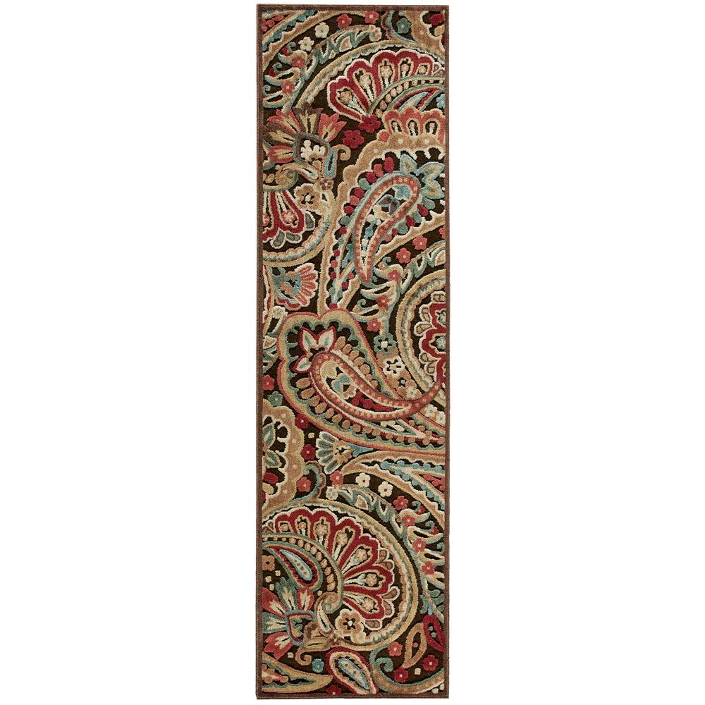 Nourison Graphic Illusions Multicolor 2 ft. 3 in. x 8 ft. Rug Runner