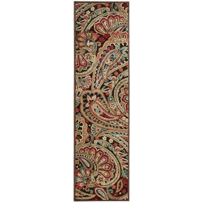 Graphic Illusions Multicolor 2 ft. x 8 ft. Runner Rug