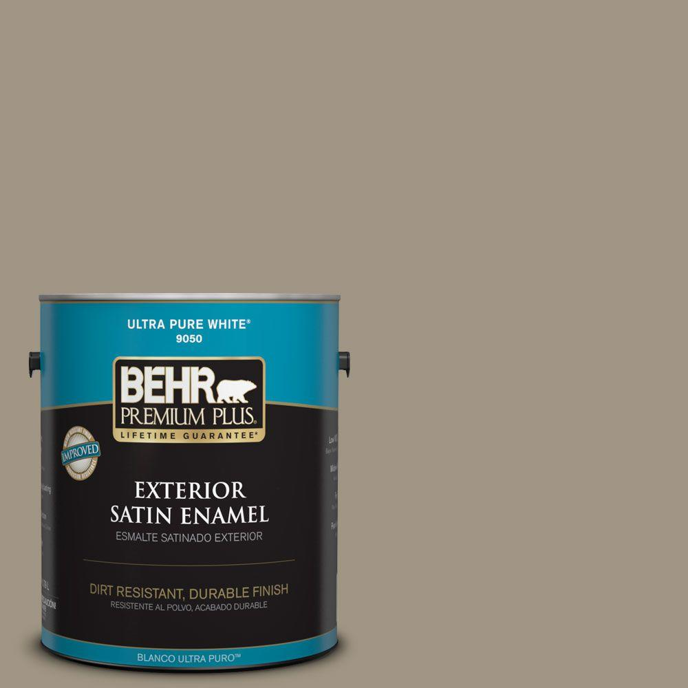1-gal. #BNC-24 Shadow Taupe Satin Enamel Exterior Paint