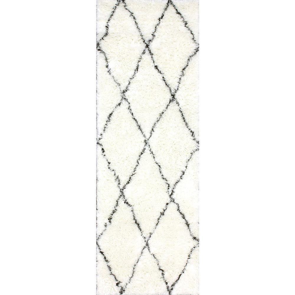 Marrakech Shag Ivory 3 ft. x 8 ft. Runner Rug
