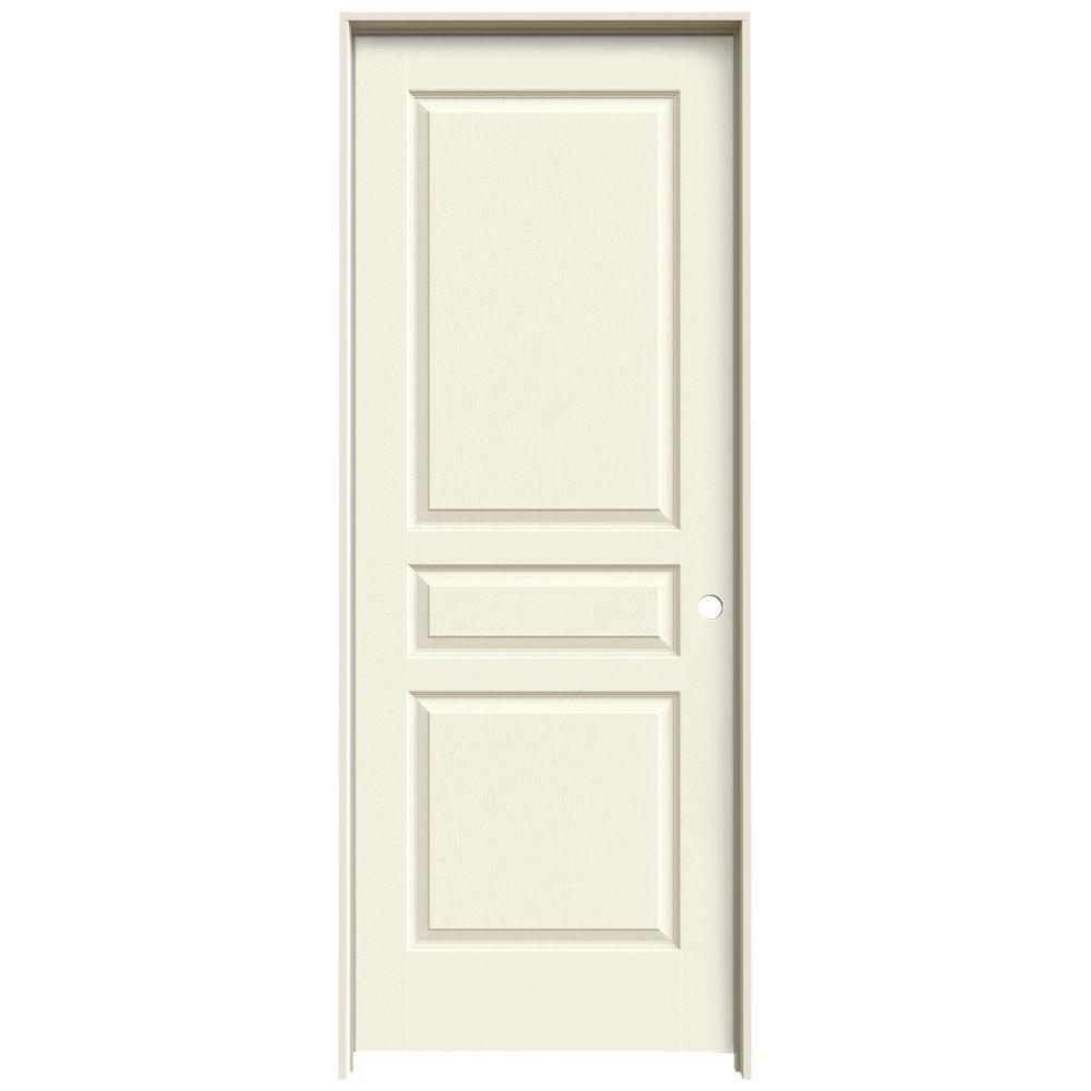 Jeld Wen 32 In X 80 In Avalon Vanilla Painted Left Hand Textured Hollow Core Molded Composite