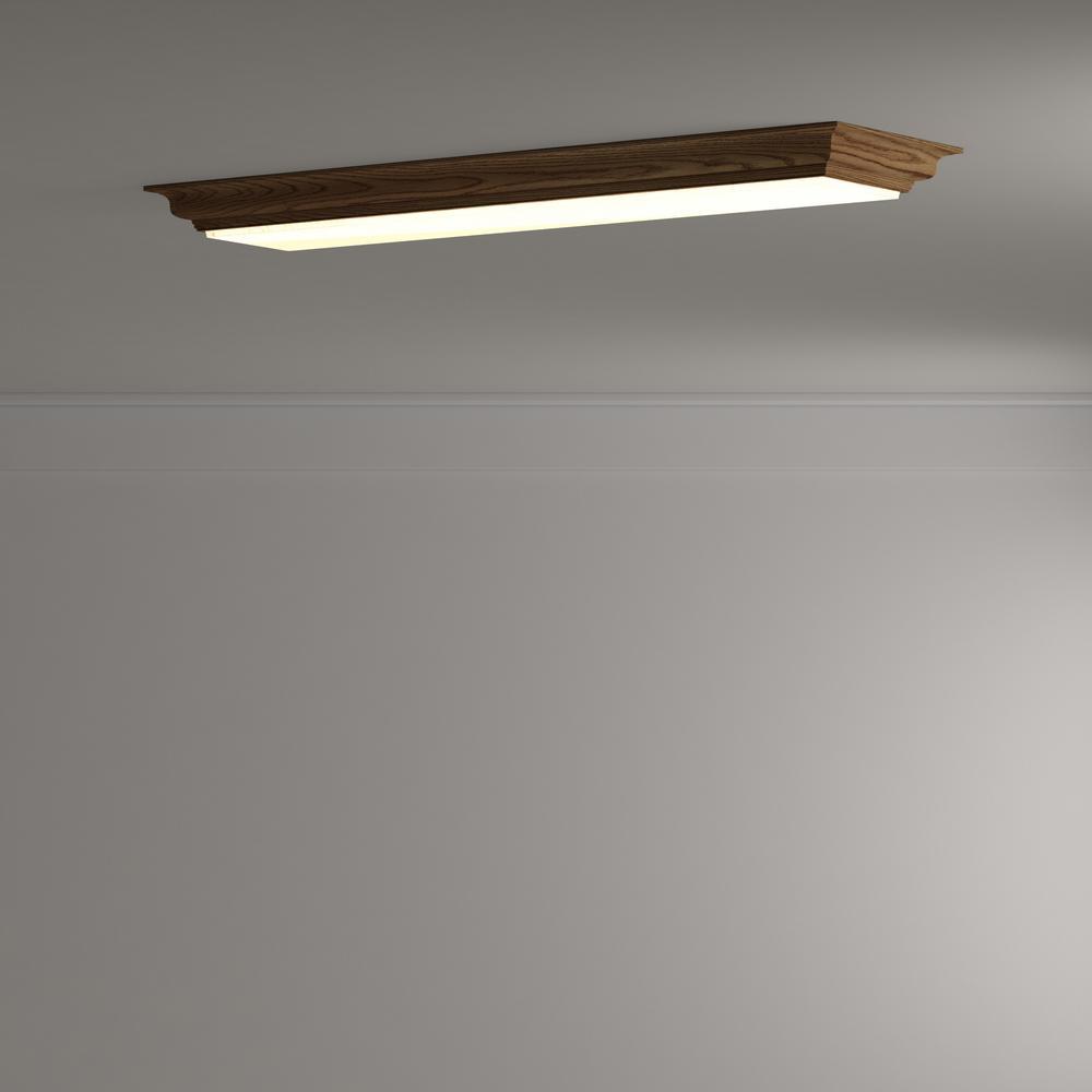 LED Flushmount Ceiling Light Cambridge Oak 4 Ft Home Indoor Decorations