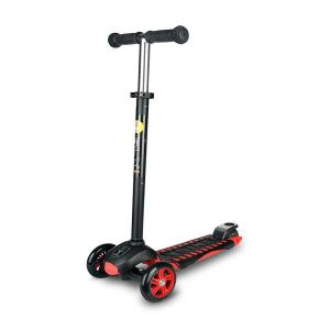 Ybike Age 5 to 10, up to 110 lbs, GLX Pro Scooter, Black/Red by Ybike