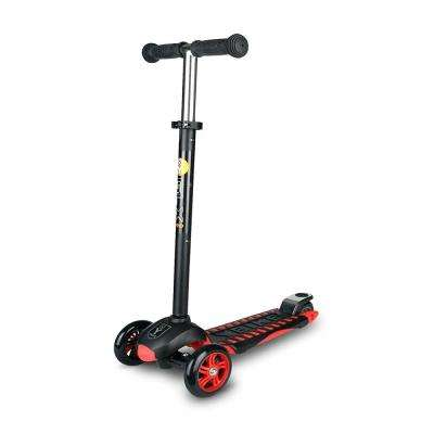 Age 5 to 10, up to 110 lbs, GLX Pro Scooter, Black/Red