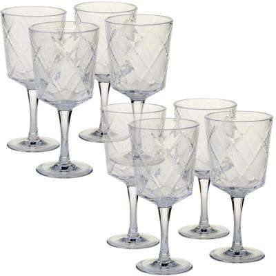 8-Piece 13 oz. Clear Acrylic Goblet Glass