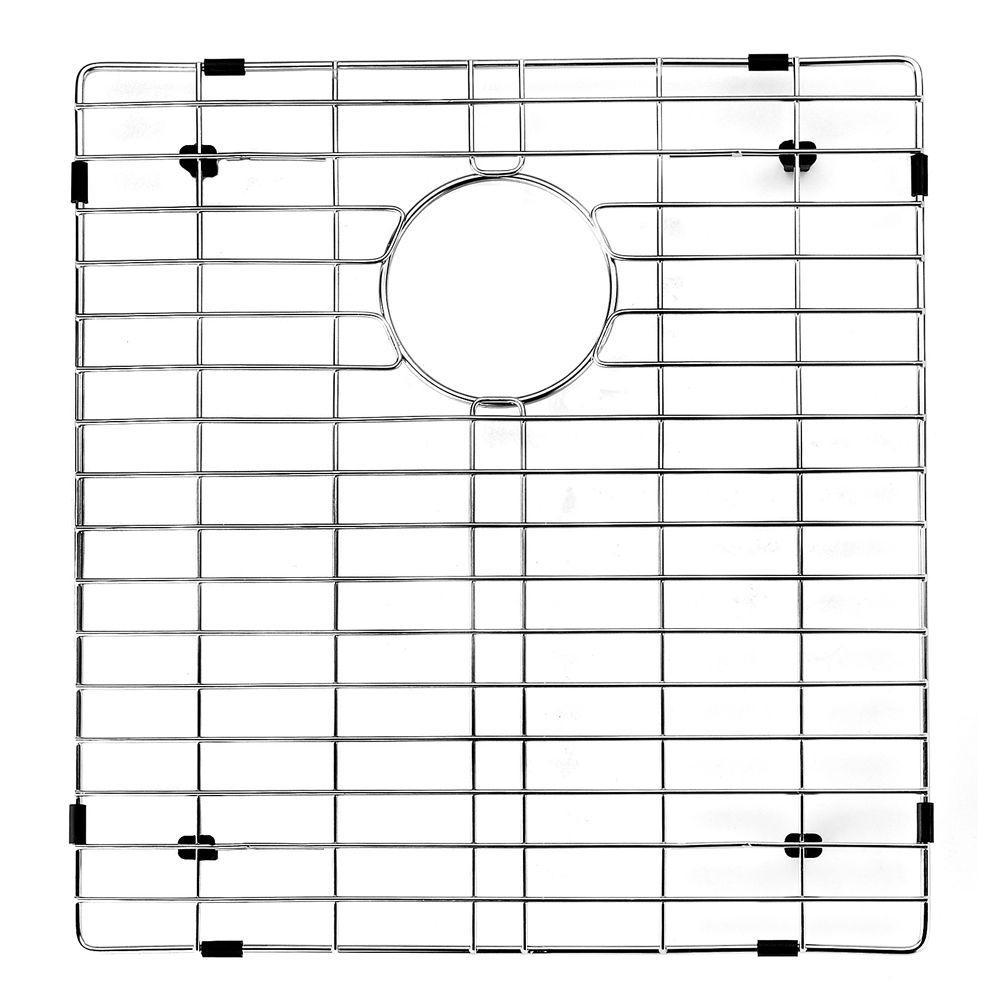 18 in. x 16 in. Kitchen Sink Bottom Grid in Stainless Steel
