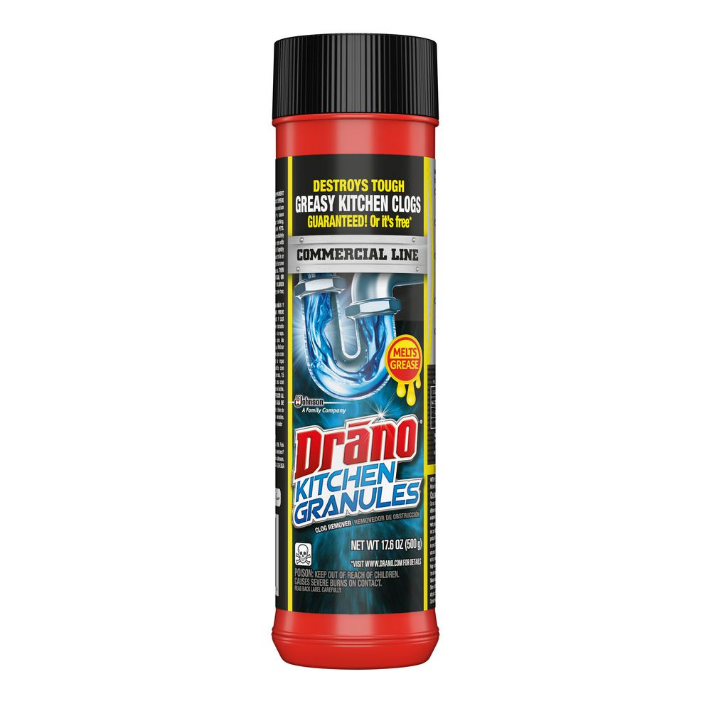 Drano Commercial Line 17 6 Oz Kitchen Granules Clog Remover 699031 The Home Depot