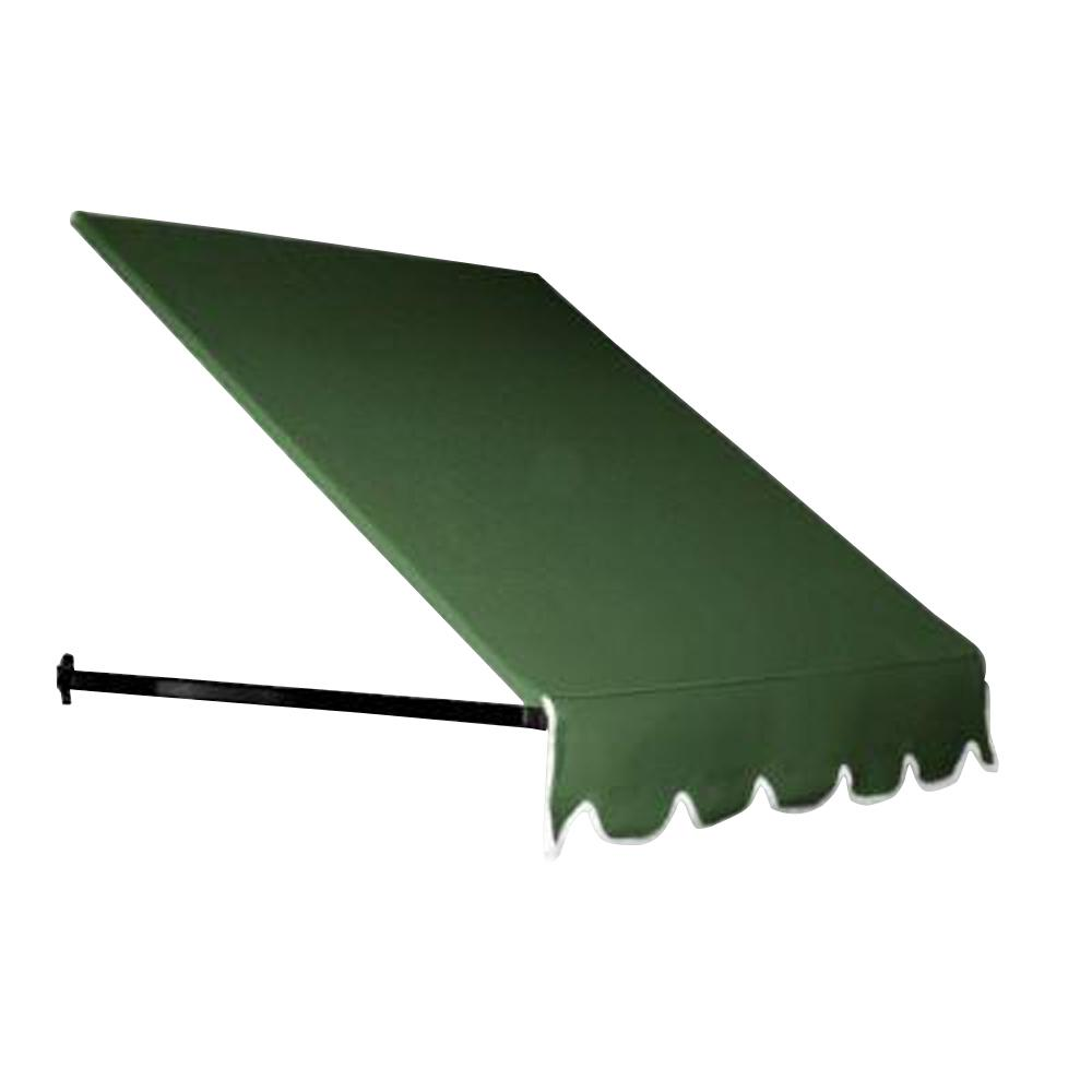AWNTECH 6.5 ft. Dallas Retro Awning for Low Eaves (18 in. H x 36 in. D) in Forest