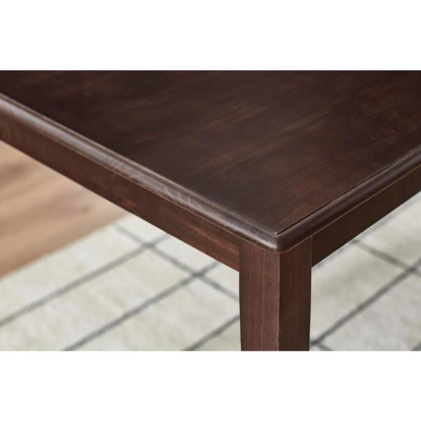 Stylewell Stylewell Chocolate Wood Rectangular Dining Table For 4 47 2 In L X 29 In H Dt 1004 The Home Depot