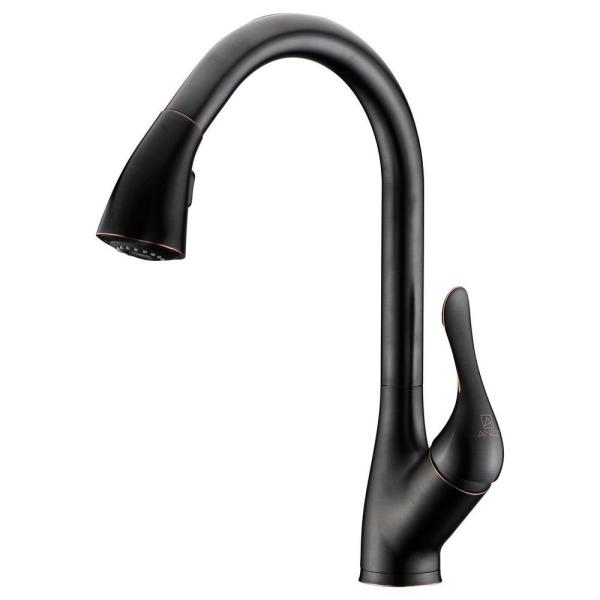 ANZZI Accent Series Single-handle Pull-down Sprayer Kitchen Faucet In Oil Rubbed Bronze - KF-AZ031ORB