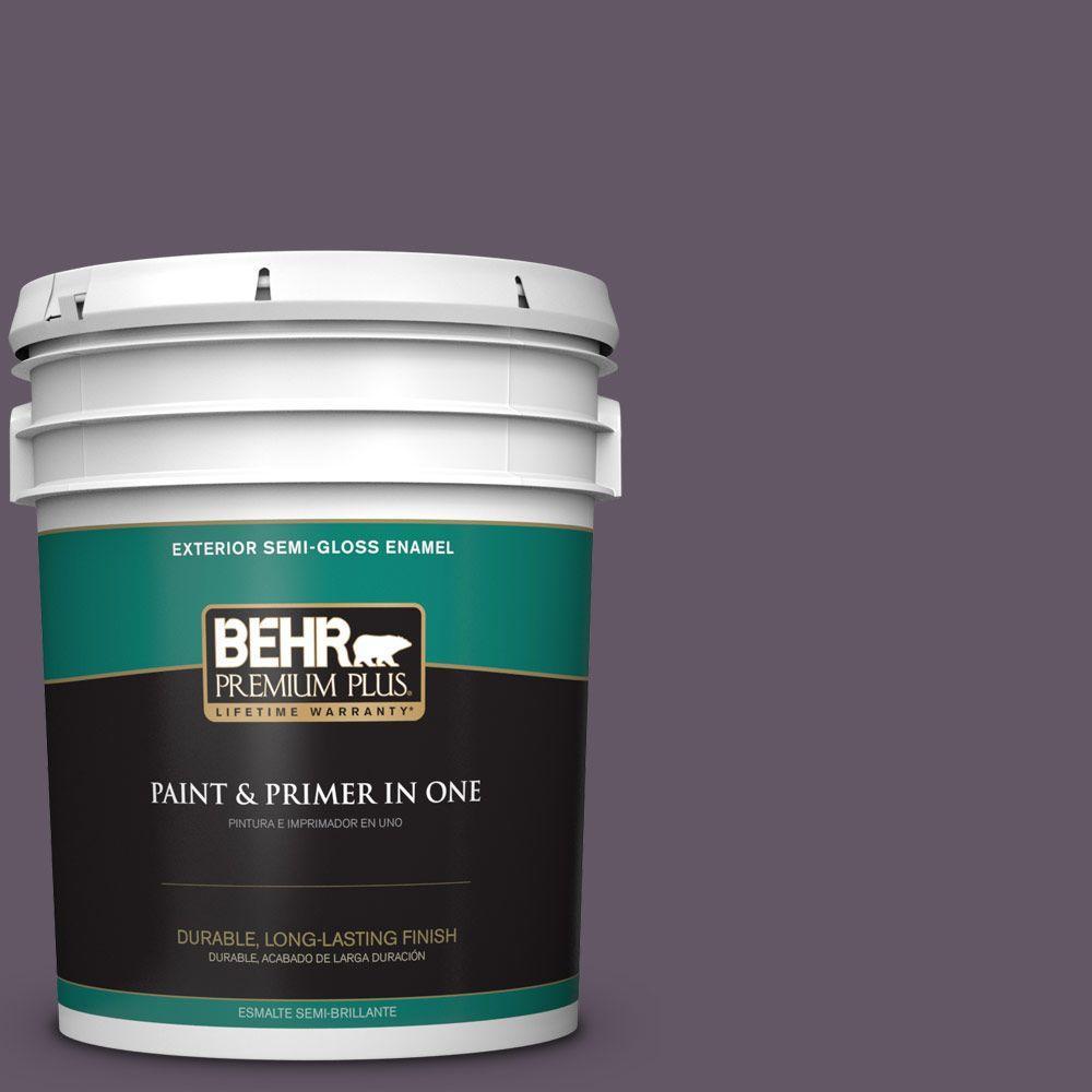 5-gal. #HDC-CL-03 Grand Grape Semi-Gloss Enamel Exterior Paint