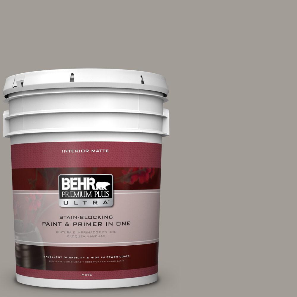 BEHR Premium Plus Ultra 5 Gal. #PPU18 15 Fashion Gray Flat/Matte