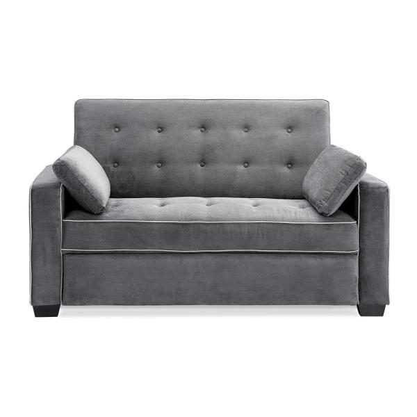 Augustus Grey Convertible Full Sofa