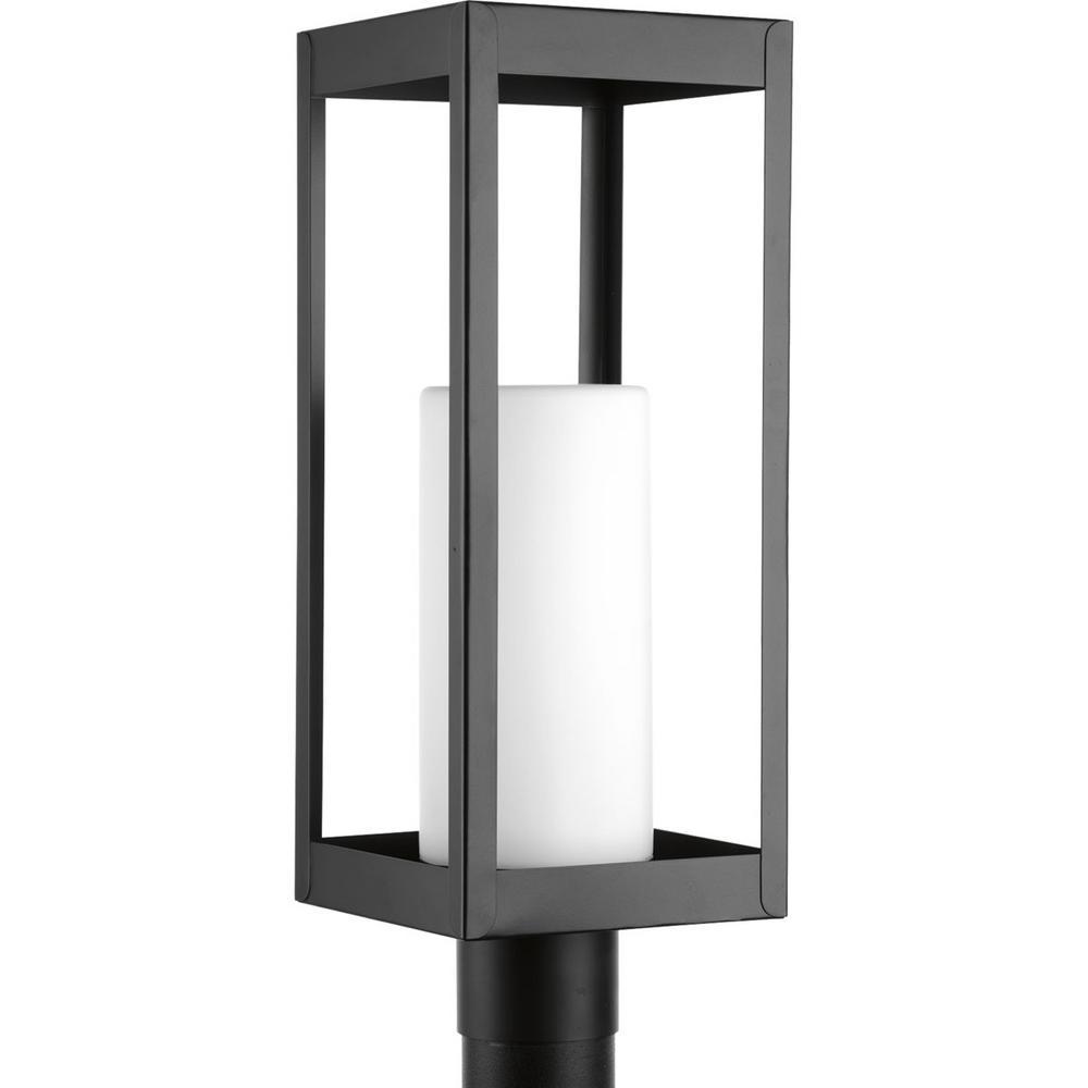 Progress Lighting Patewood Collection 1-Light Outdoor Black Post Lamp