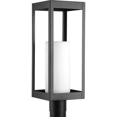 Patewood Collection 1-Light Outdoor Black Post Lantern