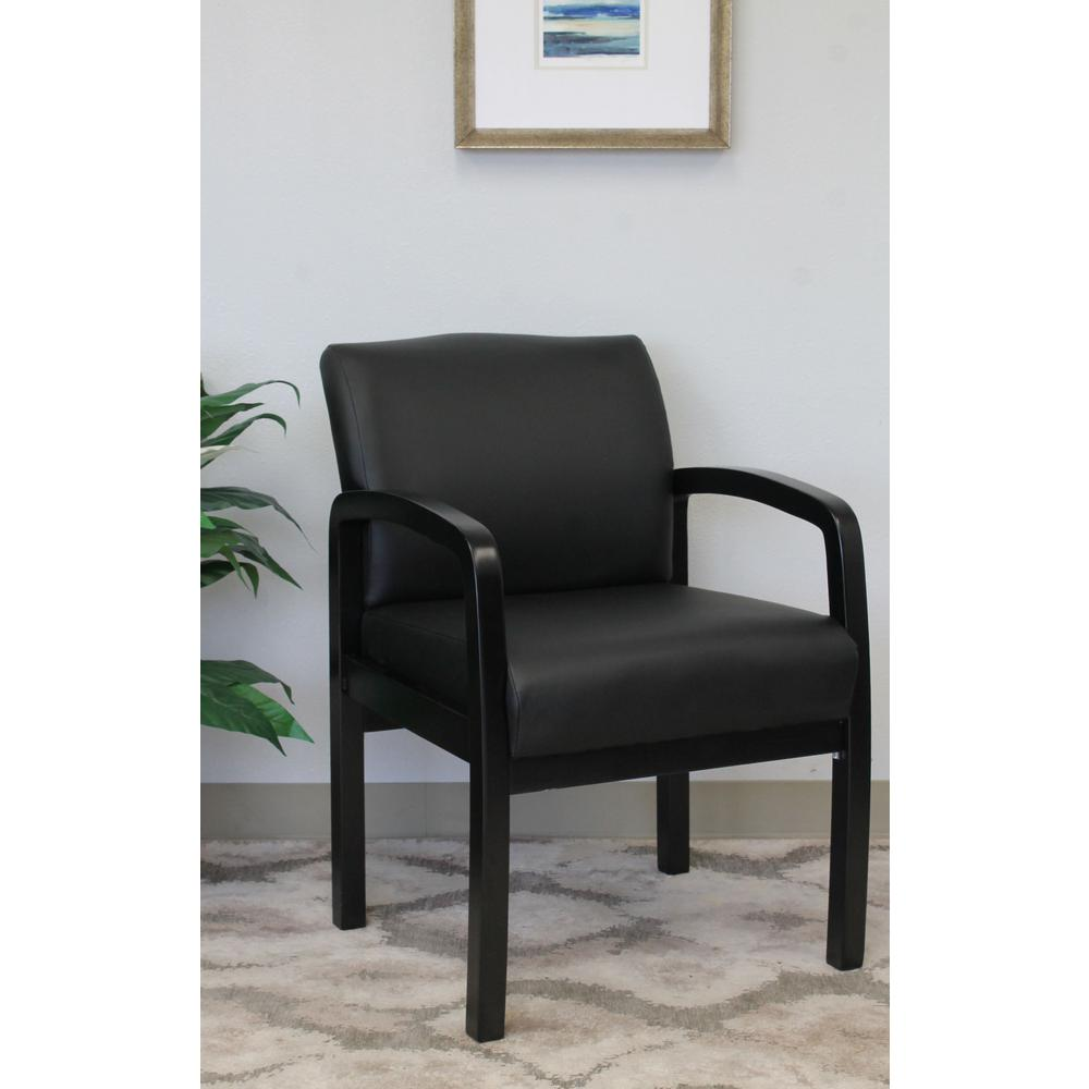 Etonnant Boss Black NTR (No Tools Required) Guest Chair