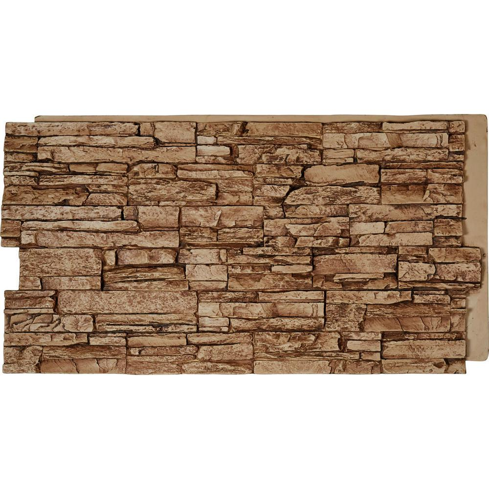 Stacked Stone Home Exterior: Ekena Millwork 48 In. X 24 In. Canyon Ridge Stacked Stone