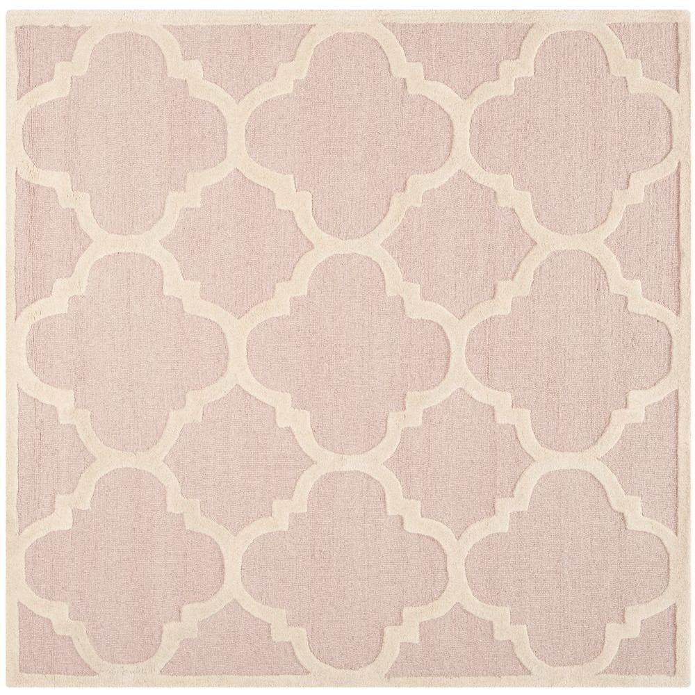 Safavieh Cambridge Light Pink/Ivory 6 ft. x 6 ft. Square Area Rug