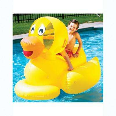 60 in. Yellow Giant Ride-On Ducky Pool Float