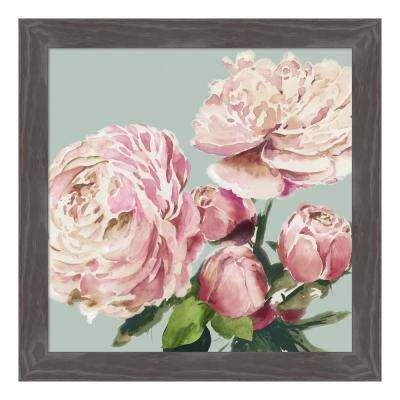 """Pink Peony II"" by Asia Jensen Framed Canvas Wall Art"