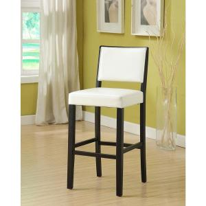 Prime Linon Home Decor Zoe 30 In White Upholstered With Black Andrewgaddart Wooden Chair Designs For Living Room Andrewgaddartcom
