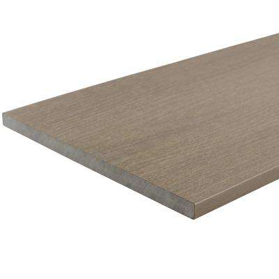 UltraShield 0.6 in. x 12 in. x 12 ft. Roman Antique Fascia Composite Decking Board Sample