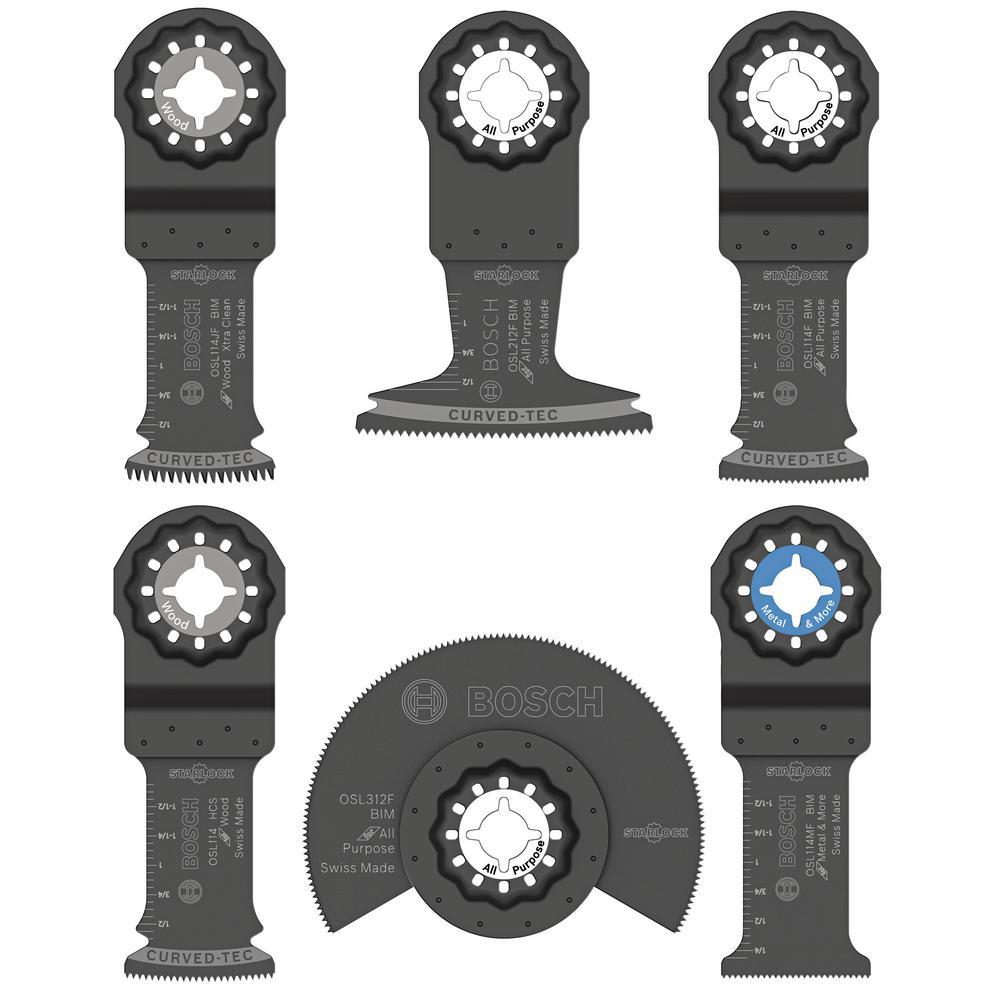 bosch starlock oscillating multi-tool accessory blade set (6-piece