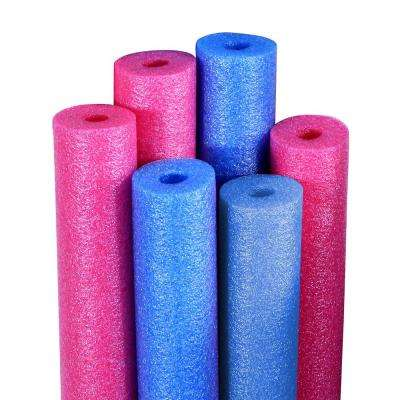 Blue and Pink Swimming Pool Water Noodles (6-Pack)
