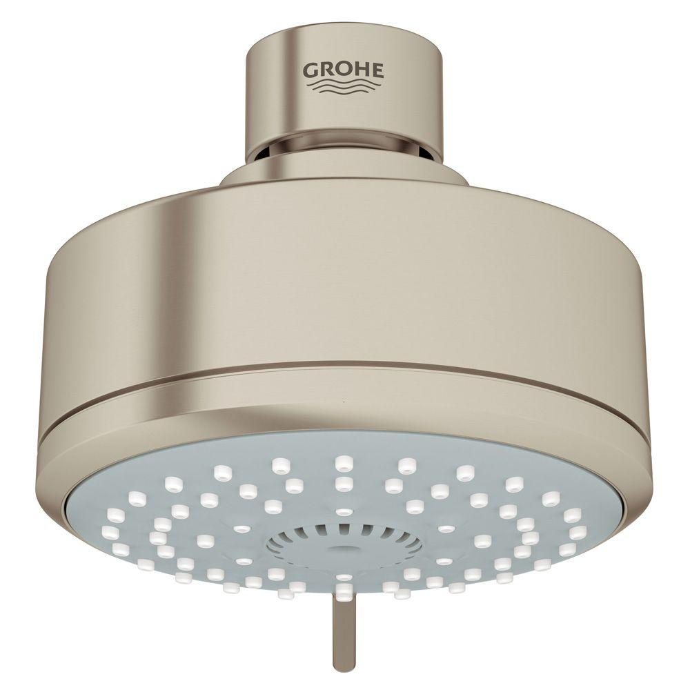 New Tempesta Cosmopolitan 100 4-Spray 4 in. Showerhead in Brushed Nickel