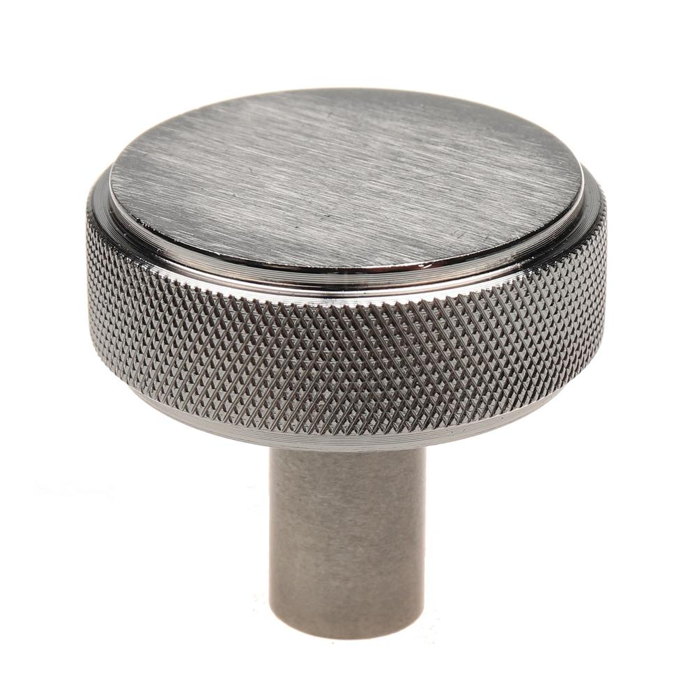 GlideRite 1-1/2 In. Satin Nickel Solid Round Knurled