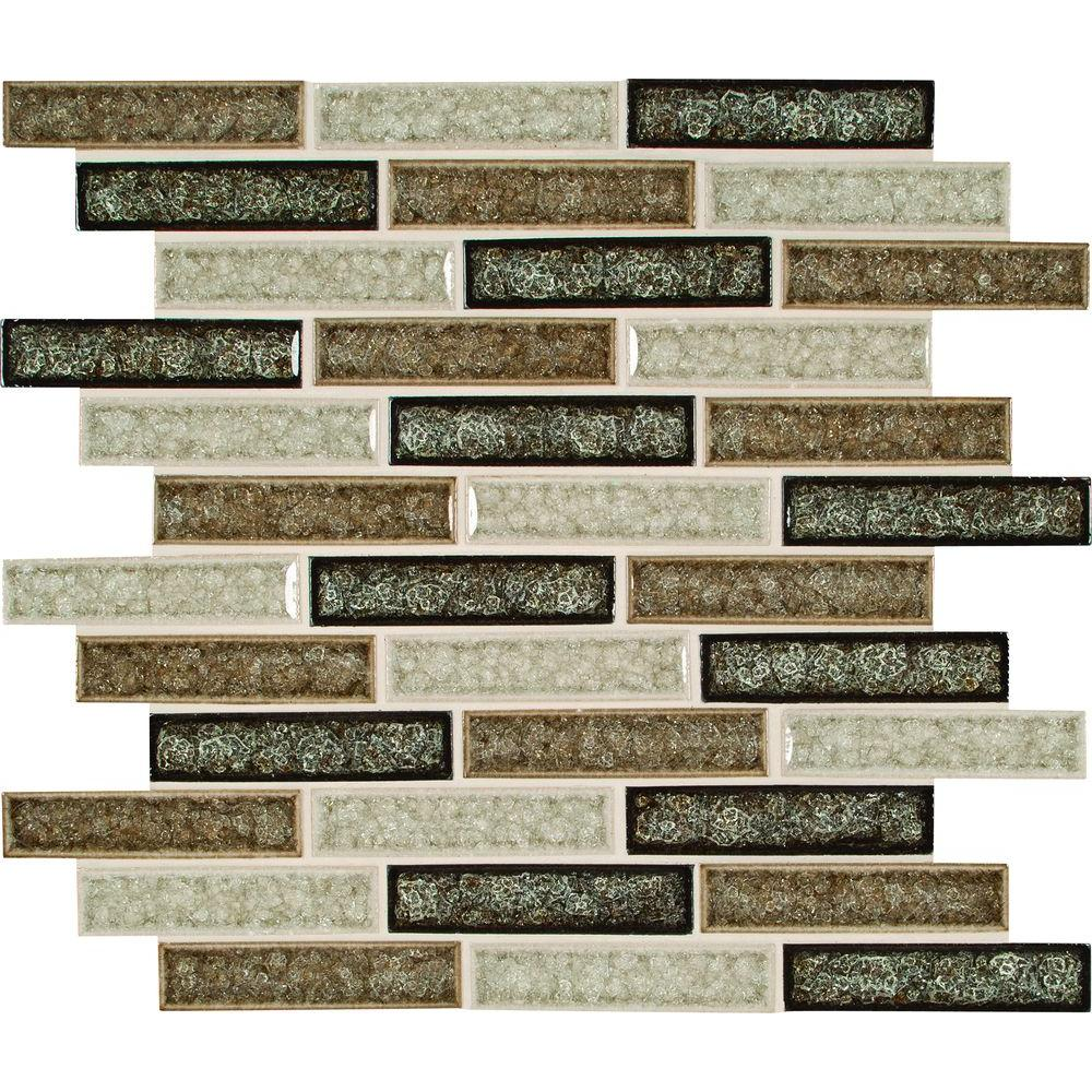 msi venetian cafe 12 in x 12 in x 8 mm glass mesh mounted mosaic tile glsggbrk vc8mm the home depot