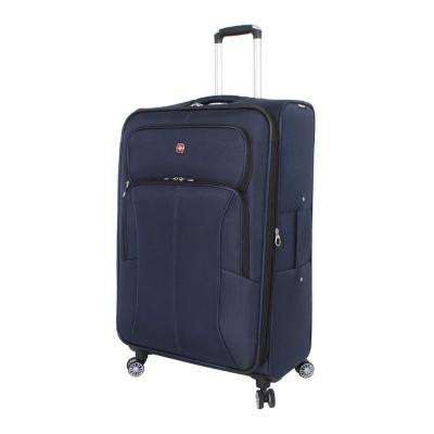 29 in. Deluxe Upright Spinner Suitcase in Blue